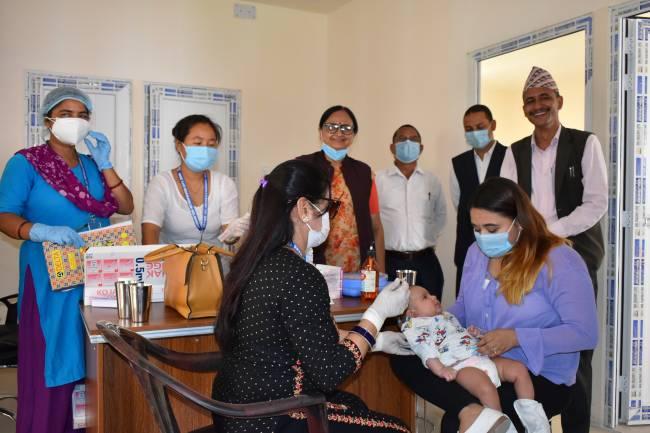 नयाँ बजार शहरी स्वास्थ्य केन्द्रबाट खोपसेवा सुरु